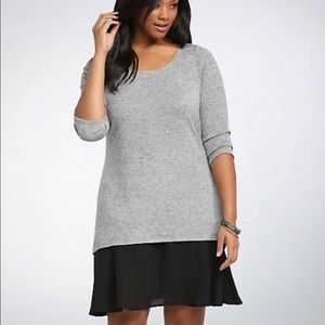 Torrid tunic knit sweater dress